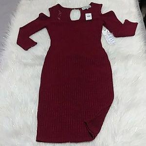 Red wine dress!